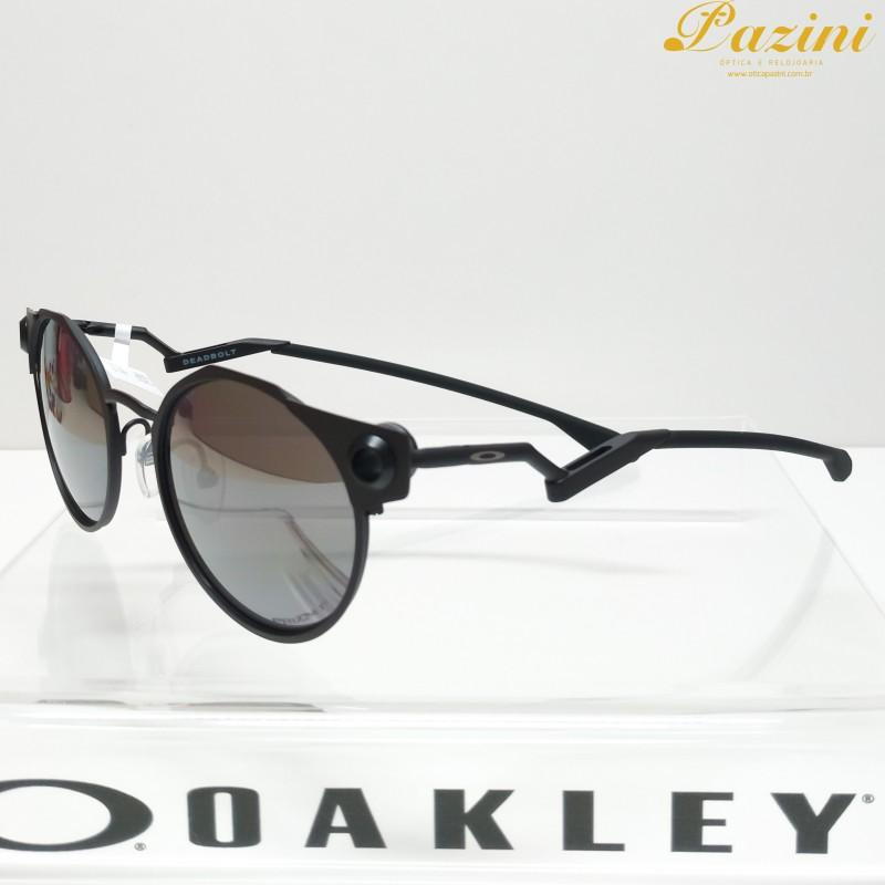 Óculos de Sol Oakley Deadbolt Satin Black Prizm Black Polarized