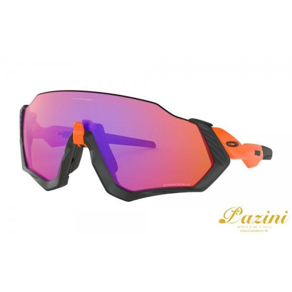 Óculos de Sol Oakley Flight Jacket™ Matte Black/Neon Orange Prizm Trail