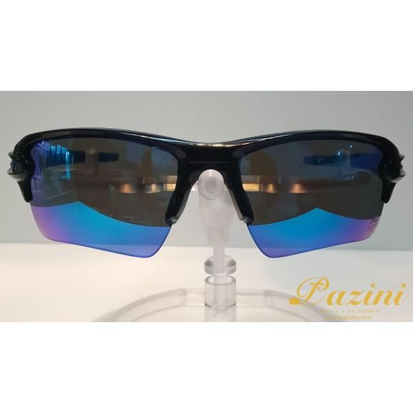 Óculos de Sol Oakley modelo Flak 2.0 XL Coleção Brazil Olympics OO9188