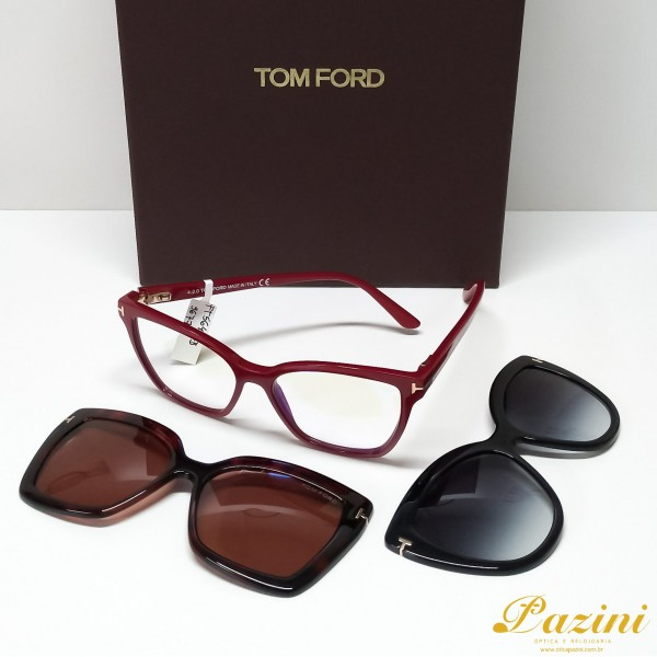 Armação Tom Ford para Receituário TF5641 Double Clip-on