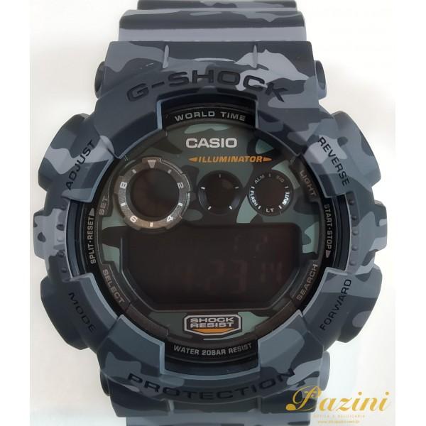 RELÓGIO CASIO G-SHOCK MODELO: GD-120CM-8DR
